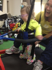 Haddie working out!